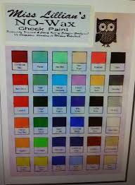 Miss Lillian S Chock Paint Color Chart Miss Lillians Nowax Chock Paint By Nowaxchalkpaint On Etsy