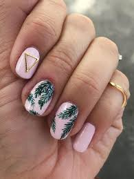 old fashioned palm trees nails festooning nail paint design ideas tree toenails