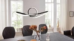 Interliving Leuchten Serie 9321 Pendelleuchte Schwarzes Metall Länge Ca 92 Cm