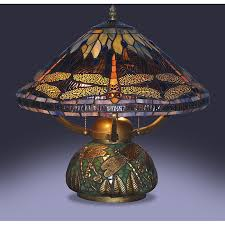 tiffany style dragonfly table lamp photo 1