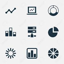 Pie Chart Synonym Vector Illustration Set Of Simple Analysis Icons Elements Pie