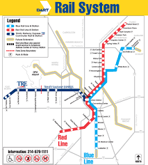 dart rail system map  dallas tx • mappery