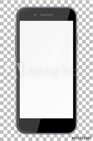 blank transparent background. Simple Blank Smart Phone With Blank Screen Isolated On Transparent Background On Blank Transparent Background N