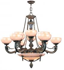 natural alabaster 15 light bronze chandelier