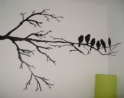 Wall Painting Maybe Just One Branch And One Of The Birds An Accent