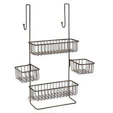 InterDesign Metalo Adjustable Over Door Shower Caddy Bathroom Storage Shelves for Shampoo, Conditioner and Soap
