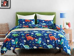 gift cute dinosaur palm trees paern bedding duvet cover set pillow case us twin queen king size 2 sides print chenille bedding contemporary duvet covers