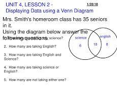 Samurai Vs Knight Venn Diagram Ppt Unit 4 Lesson 2 Displaying Data Using A Venn
