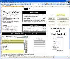 Cash Flow Calculation Excel Cashflow 101 202 Excel Spreadsheets Rich Dad Kiyosaki