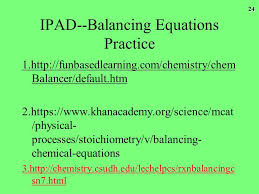 ipad balancing equations practice kwl chart reactions what do i already know about chemical