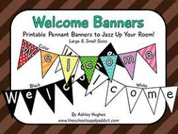 printable welcome home banner template classroom materials the school supply addict