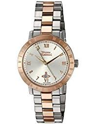 amazon co uk vivienne westwood watches vivienne westwood bloomsbury women s quartz watch silver dial analogue display and two tone stainless steel