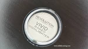 i have been enjoying makeup revolution london s s this is their baked highlighter in golden lights one of 3 diffe shades they e in
