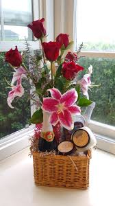 stargazers roses cider and bath and body basket