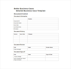 Free Case Template Prince2 Business Case Template Word Business Case Template 12 Free