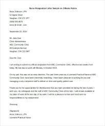 Simple Resignation Letter Examples Cover Example Job Quitting Sample