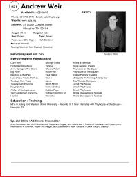 Actors Resume Awesome Actors Resume Template For Beginners Personal Leave 53
