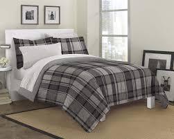 grey plaid comforter. Plain Comforter Amazoncom Loft Style Ultimate Plaid Ultra Soft Microfiber Bedding  Comforter Set Gray Queen Home U0026 Kitchen In Grey U