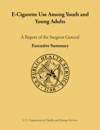 E Cigarette Use Among Youth And Young Adults A Report Of The