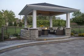 extended pergola by elemental landscapes landscaping brick pavers poolscapes outdoor kitchens bars shade structures