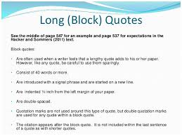 Block Quotes Apa Best How To Write A Block Quote In Apa Format Mla Long Quote