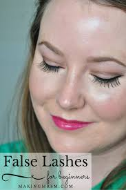this is a super easy way to apply false lashes for beginners false lash life