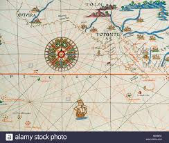 California Nautical Charts Coast Of High And Low California And Compass Rose Nautical