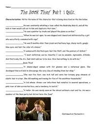 best the book thief resources images the book  the book thief part 1 characters and figurative language quiz