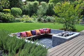garden seating. Serene Sunken Garden Seating Areas We All Dream About