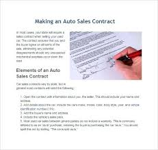 Used Car Sales Contract Template Free Images - Template Design Ideas