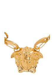 image 2 of versace medusa head necklace in gold