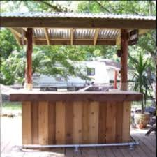 diy outdoor bar. i like the foot rail on this oneit would look great our bar too. | patio pinterest bar, backyard and patios diy outdoor