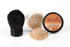2pc foundation light kabuki set mineral makeup kit bare skin matte powder