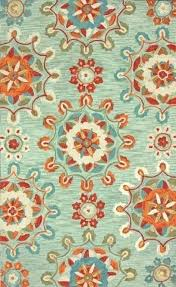 orange and blue area rug s evoke wayfair hillsby