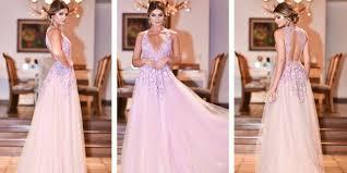 vestido de formatura rosa
