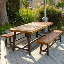 phi villa outdoor table bench set of 3