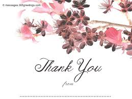 free thank you notes templates wedding thank you messages 365greetings com
