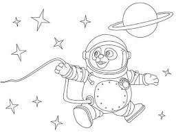 Small Picture Special Agent Oso as an Astronaut Coloring Page Download Print