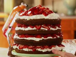 Strawberry Chocolate Layer Cake Recipe Ree Drummond Food Network