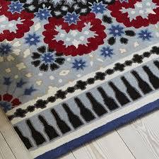 nomadic nom02 wool rugs in blue grey red