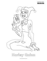 In case you don\'t find what you are looking for, use the top search bar to search again! Harley Quinn Coloring Page Super Fun Coloring