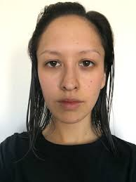 my face without makeup for my wedding day in hoping to have dewy skin with