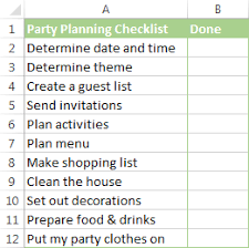 to do lists excel insert checkbox in excel create interactive checklist or to do list