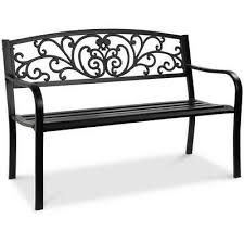 steel garden bench 3 seater outdoor