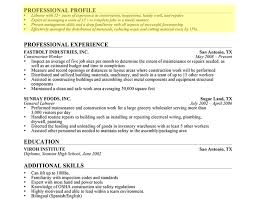 Resume:Professional Profile Writing Guide Awesome Resume Expert Laborer  Professional Profile 1 Top Chicago Resume