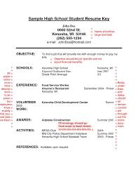 Sample Resume For High School Student W Resume For High School