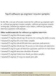 top software qa engineer resume samples
