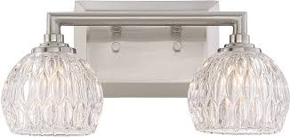 quoizel pcsa8602bn platinum collection serena modern brushed nickel xenon 2 light bathroom light fixture loading zoom