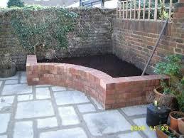 corner flower bed brick planter