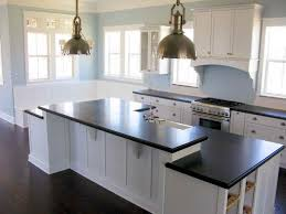 Kitchen White Kitchen Cabinets With Black Granite Pictures White